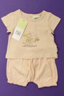 Habit d'occasion pour bébé Ensemble tee-shirt et shorty - NEUF Tape à l'œil Naissance Tape à l'œil