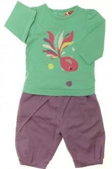 Habit d'occasion pour bébé Ensemble tee-shirt et pantalon DPAM 3 mois DPAM