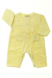 vêtements bébés Pyjama Dors-bien en velours sans pieds Natalys 1 mois  Natalys 5a85b4d5f8e