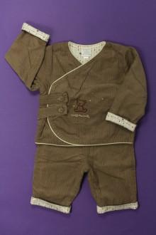 habits bébé occasion Ensemble veste, pantalon et body Cadet Rousselle 6 mois Cadet Rousselle