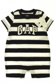 Habits pour bébé Combishort à rayures - NEUF Gap 6 mois Gap