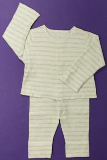 vêtements bébés Ensemble rayé Petit Bateau 6 mois Petit Bateau