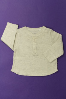 Habit de bébé d'occasion Tee-shirt manches longues milleraies Petit Bateau 6 mois  Petit Bateau