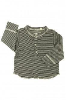 vetements d occasion bébé Tee-shirt manches longues milleraies Petit Bateau 6 mois Petit Bateau