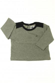 vêtements bébés Tee-shirt manches longues bicolore Petit Bateau 6 mois Petit Bateau