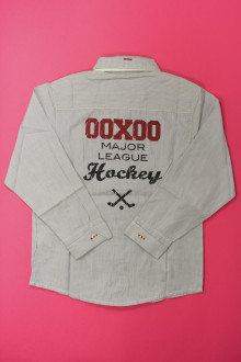 vetement d occasion enfant Chemise à fines rayures - NEUF Ooxoo 8 ans Ooxoo