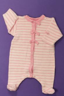 vetements d occasion bébé Pyjama/Dors-bien rayé en éponge Petit Bateau Naissance Petit Bateau