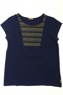 vetement occasion enfants Tee-shirt manches courtes brodé DPAM 12 ans DPAM