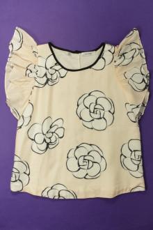 vêtements occasion enfants Blouse fleurie en soie mélangée Marèse 12 ans Marèse