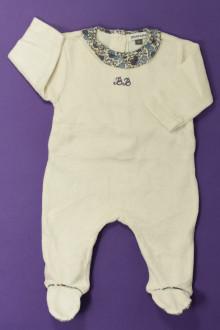Habits pour bébé Pyjama/Dors-bien en velours DPAM 1 mois DPAM
