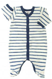 vêtements bébés Pyjama/Dors-bien rayé en velours Petit Bateau Naissance Petit Bateau