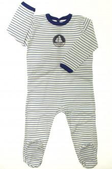 vetement enfant occasion Pyjama/Dors-bien rayé en coton Petit Bateau 2 ans Petit Bateau
