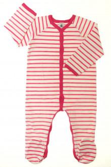 vetement occasion enfants Pyjama/Dors-bien rayé en velours Petit Bateau 2 ans Petit Bateau
