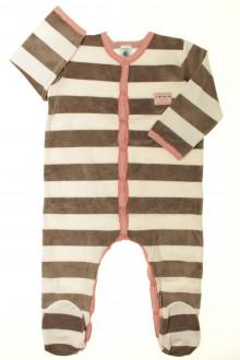 vetement occasion enfants Pyjama/Dors-bien en velours à rayures Petit Bateau 2 ans Petit Bateau