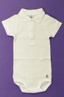 vêtements bébés Body polo manches courtes Petit Bateau 6 mois Petit Bateau