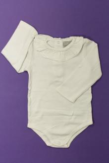 vetement bébé d occasion Body à col manches longues Cyrillus 12 mois Cyrillus