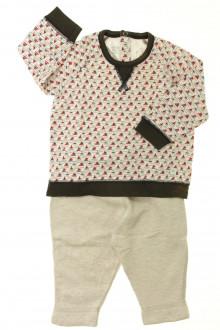 habits bébé Ensemble tee-shirt et pantalon Petit Bateau 6 mois Petit Bateau