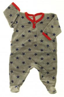 vêtements bébés Pyjama/Dors-bien en velours étoilé Petit Bateau 1 mois Petit Bateau
