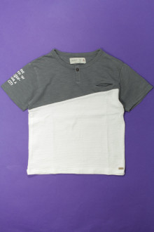 vetements enfant occasion Tee-shirt manches courtes bi-matière Zara 4 ans Zara