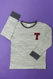 vetement occasion enfants Tee-shirt rayé manches longues  Tape à l'Œil 5 ans Tape à l'œil
