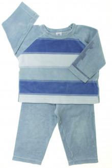 vêtements occasion enfants Pyjama bi-matière à rayures Petit Bateau 3 ans Petit Bateau