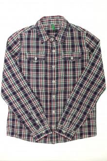 vetements enfants d occasion Chemise à carreaux - 11 ans Benetton 10 ans Benetton