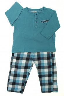 vetement enfants occasion Pyjama à carreaux Tape à l'Œil 3 ans Tape à l'œil