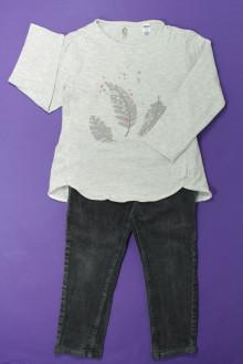 vêtements occasion enfants Ensemble tregging et tee-shirt Okaïdi 3 ans Okaïdi