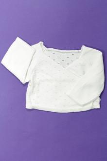 vêtements bébés Cache-cœur ajouré Obaïbi 1 mois Obaïbi