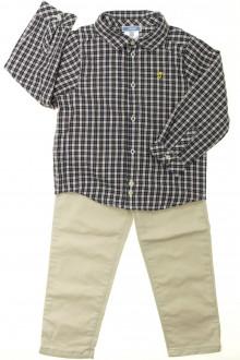 vêtement enfant occasion Ensemble chino et chemise Jacadi 3 ans Jacadi