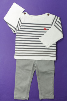 vêtements bébés Ensemble jean et marinière Jacadi 18 mois Jacadi