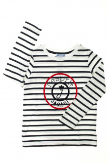 vetement occasion enfants Tee-shirt rayé manches longues Jacadi 4 ans Jacadi