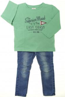 vetements enfants d occasion Ensemble jean et tee-shirt Tape à l'Œil 3 ans Tape à l'œil
