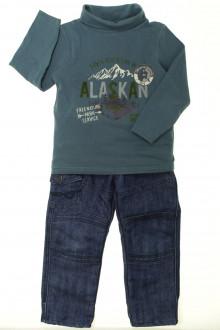 vêtement enfant occasion Ensemble jean et sous-pull Tape à l'Œil 3 ans Tape à l'œil