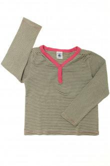 vetements enfants d occasion Tee-shirt manches longues milleraies Petit Bateau 5 ans Petit Bateau