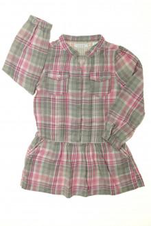 vêtement enfant occasion Robe manches longues à carreaux Okaïdi 3 ans Okaïdi
