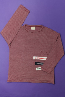 vêtement enfant occasion Tee-shirt manches longues milleraies Zara 6 ans Zara