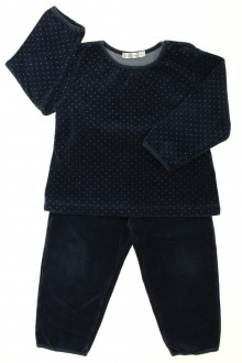 vetement occasion enfants Pyjama en velours à pois Bout'Chou 2 ans Bout'Chou