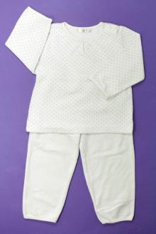 vetements enfant occasion Pyjama en velours à pois Bout'Chou 2 ans Bout'Chou
