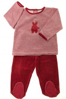 vetements enfants d occasion Pyjama à pieds en velours