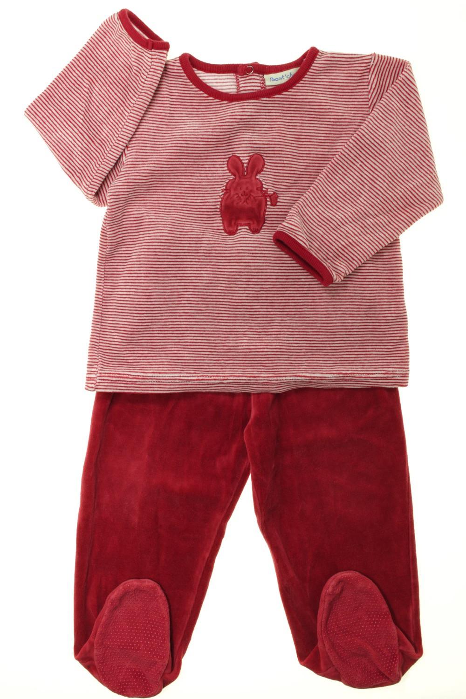 afb35f1cb3445 Pyjama à pieds en velours