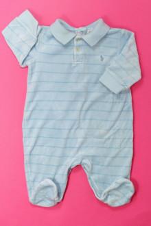 habits bébé occasion Pyjama/Dors-bien rayé en velours Ralph Lauren 6 mois Ralph Lauren