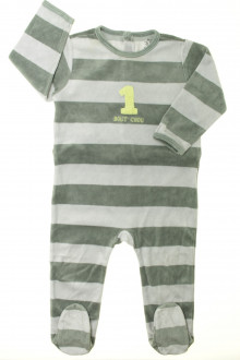vêtements bébés Pyjama/Dors-bien en velours à rayures Bout'Chou 18 mois Bout'Chou