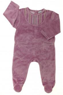 habits bébé Pyjama/Dors-bien brodé en velours DPAM 9 mois DPAM