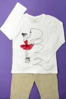 vetements enfant occasion Ensemble pantalon et tee-shirt Zara 7 ans Zara