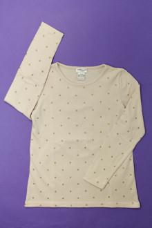 vetement marque occasion Tee-shirt manches longues à pois Cyrillus 8 ans Cyrillus