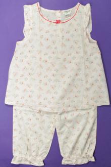 vetement marque occasion Pyjama fleuri Cyrillus 8 ans Cyrillus