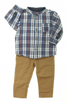 habits bébé occasion Ensemble pantalon et chemise Obaïbi 12 mois Obaïbi