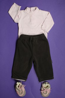 habits bébé Ensemble pantalon en polaire, body sous-pull et baskets Bout'Chou 1 mois Bout'Chou