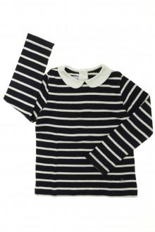 vetement d occasion enfant Tee-shirt manches longues rayé Petit Bateau 4 ans Petit Bateau